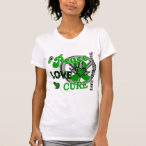 Peace Love Cure 2 Traumatic Brain Injury TBI T-Shirt