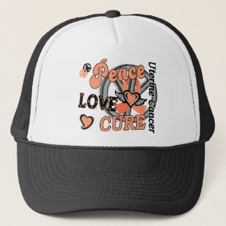 Peace Love Cure 2 Uterine Cancer Trucker Hat
