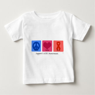 Peace Love Cure AIDS Baby T-Shirt