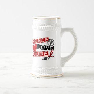 Peace, Love, Cure AIDS Mugs