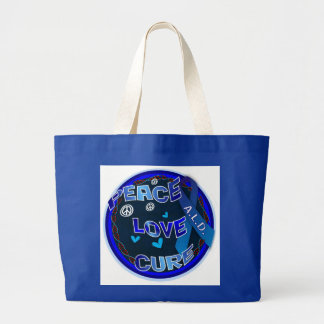 Peace Love Cure ALD Large Tote Bag