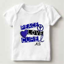 PEACE LOVE CURE ALS BABY T-Shirt