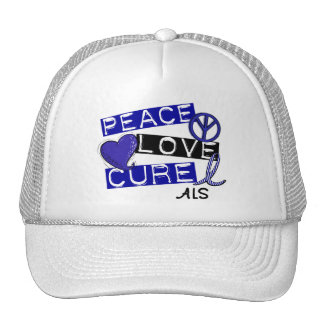 PEACE LOVE CURE ALS TRUCKER HAT