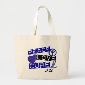 PEACE LOVE CURE ALS LARGE TOTE BAG