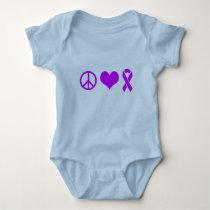 Peace Love Cure Alzheimer Tshirts