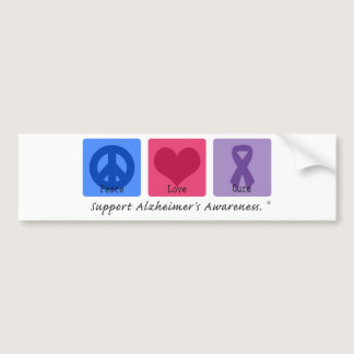 Peace Love Cure Alzheimers Bumper Sticker