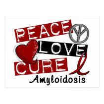 Peace Love Cure Amyloidosis Postcard