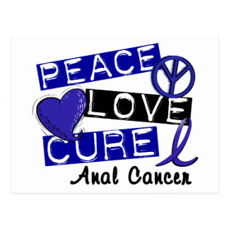 Peace Love Cure Anal Cancer Postcard