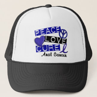 Peace Love Cure Anal Cancer Trucker Hat