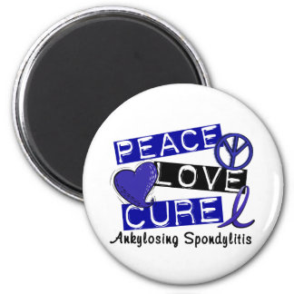 Peace Love Cure Ankylosing Spondylitis AS 2 Inch Round Magnet