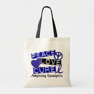 Peace Love Cure Ankylosing Spondylitis AS Tote Bag