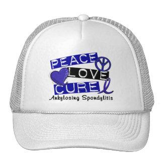 Peace Love Cure Ankylosing Spondylitis AS Trucker Hats