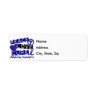 Peace Love Cure Ankylosing Spondylitis AS Return Address Labels