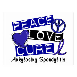 Peace Love Cure Ankylosing Spondylitis AS Postcard