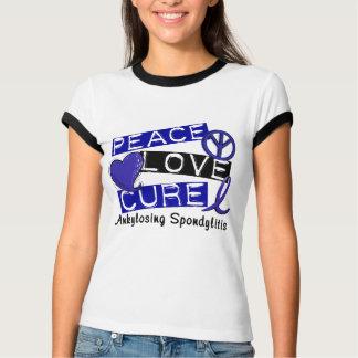 Peace Love Cure Ankylosing Spondylitis AS T-Shirt