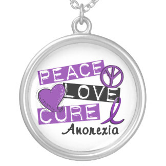 Peace Love Cure Anorexia Custom Jewelry
