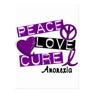 PEACE LOVE CURE ANOREXIA POSTCARD