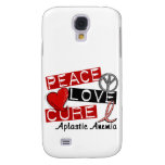 Peace Love Cure Aplastic Anemia Samsung Galaxy S4 Covers