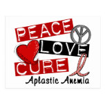 Peace Love Cure Aplastic Anemia Post Card
