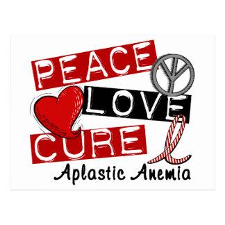 Peace Love Cure Aplastic Anemia Postcard