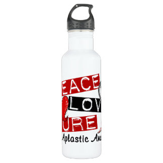 Peace Love Cure Aplastic Anemia Stainless Steel Water Bottle
