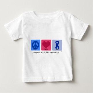 Peace Love Cure Arthritis Baby T-Shirt
