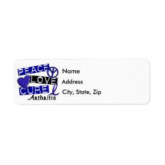 Peace Love Cure Arthritis Label