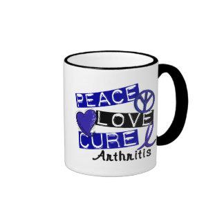 Peace Love Cure Arthritis Coffee Mugs