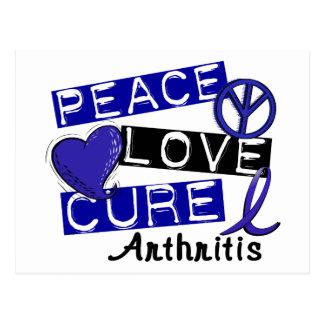 Peace Love Cure Arthritis Postcard