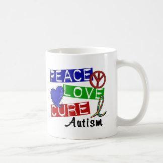 Peace Love Cure Autism Mugs