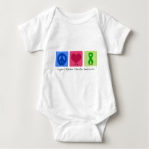 Peace Love Cure Bipolar Disorder Baby Bodysuit