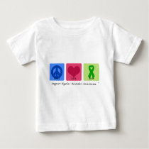 Peace Love Cure Bipolar Disorder Baby T-Shirt