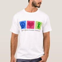 Peace Love Cure Bipolar Disorder T-Shirt