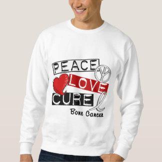 PEACE LOVE CURE BONE CANCER SWEATSHIRT