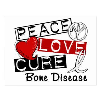 Peace Love Cure Bone Disease Postcard
