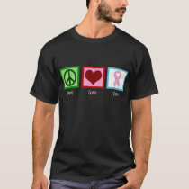 Peace Love Cure Breast Cancer T-Shirt