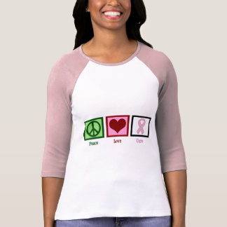 Peace Love Cure Breast Cancer Shirt