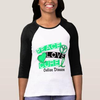 PEACE LOVE CURE CELIAC DISEASE T-Shirts