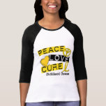 PEACE LOVE CURE CHILDHOOD CANCER T-SHIRT