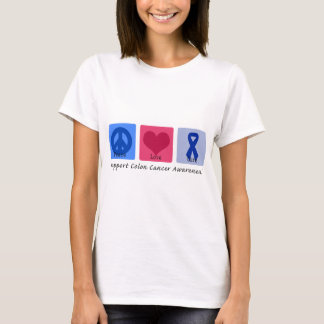 Peace Love Cure Colon Cancer T-Shirt