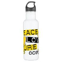 Peace Love Cure COPD 1 Water Bottle