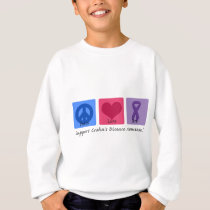 Peace Love Cure Crohns Disease Sweatshirt