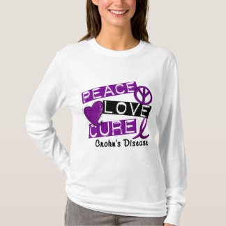 PEACE LOVE CURE CROHNS DISEASE T-Shirt