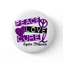 PEACE LOVE CURE CYSTIC FIBROSIS BUTTON