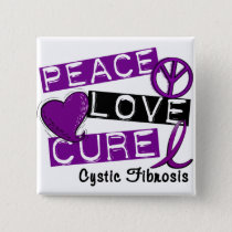 PEACE LOVE CURE CYSTIC FIBROSIS PINBACK BUTTON