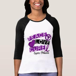PEACE LOVE CURE CYSTIC FIBROSIS T-Shirt
