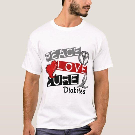 PEACE LOVE CURE DIABETES T-Shirt
