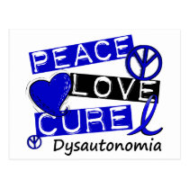 Peace Love Cure Dysautonomia Postcard