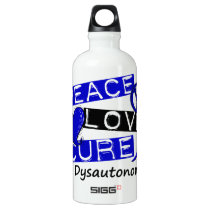 Peace Love Cure Dysautonomia Water Bottle