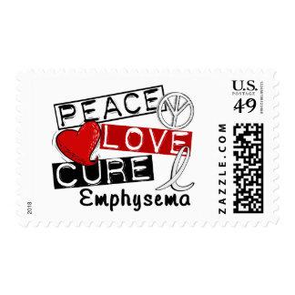 Peace Love Cure Emphysema Postage